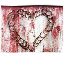 Horseshoe Heart Poster