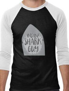 INSANE (Crazy) Shark guy Men's Baseball ¾ T-Shirt