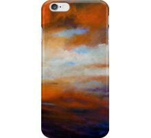 Winter Sky at Sunset iPhone Case/Skin