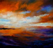 Winter Sky at Sunset by Cathy Gilday