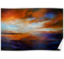 Winter Sky at Sunset Poster