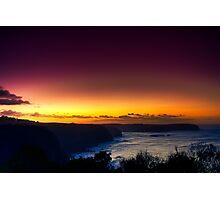 Dawn at Bushrangers Bay Photographic Print