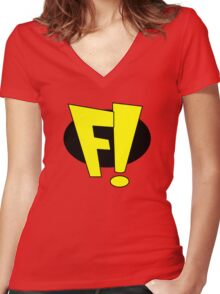 Freakazoid Women's Fitted V-Neck T-Shirt