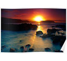 Sunrise at Bushrangers Bay Poster