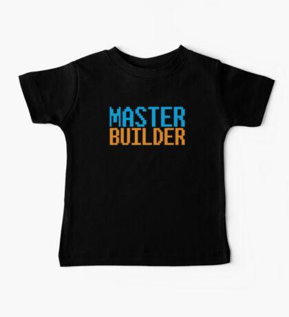 MASTER BUILDER with toy bricks Baby Tee