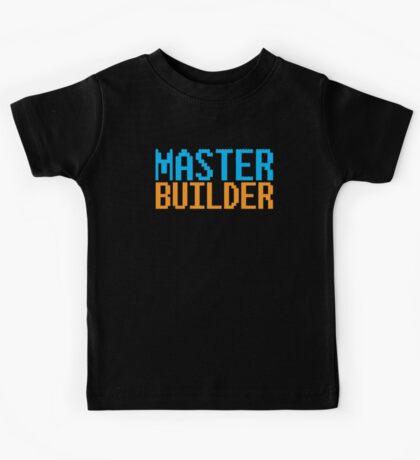 MASTER BUILDER with toy bricks Kids Tee