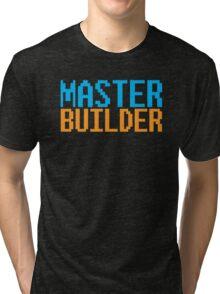 MASTER BUILDER with toy bricks Tri-blend T-Shirt