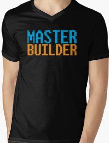 MASTER BUILDER with toy bricks Mens V-Neck T-Shirt