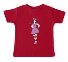Alice in wonderland in purple with a teacup Baby Tee