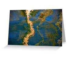 Light & reflections on black water Greeting Card