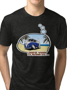 Volkswagen Tee Shirt - I Know Where I'd Rather Be Tri-blend T-Shirt