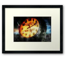 The Clock Is Ticking Framed Print