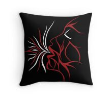 Red Ease Throw Pillow