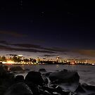 City Coast...(from Burleigh Heads, looking across to Surfers) by Elizabeth4