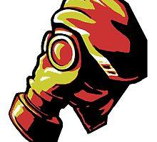 Gas Mask Reds by HeribertoM