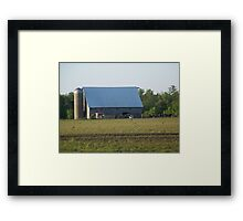 Pasture Gathering by the Barn Framed Print