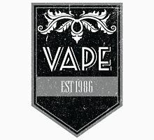 Distressed Vape Est. 1986 Badge (black) Unisex T-Shirt