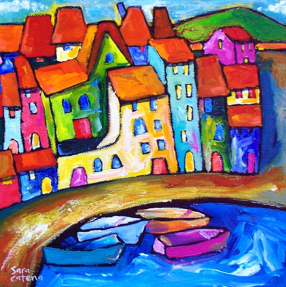 CADAQUES , SPAIN  by ART PRINTS ONLINE         by artist SARA  CATENA