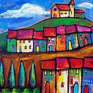 CHURCH ON A HILLTOP - SPAIN  by ART PRINTS ONLINE         by artist SARA  CATENA