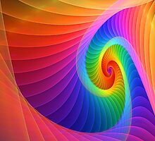 Rainbow Spiral by wolfepaw