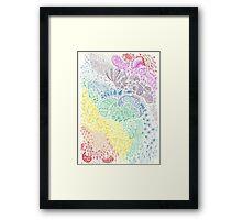 Rainbow Doodle Framed Print