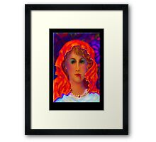 Beware of A Woman Wearing A Red Riding Hood Framed Print