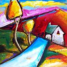 FARMHOUSE  IN  GOULOUX - FRANCE    by ART PRINTS ONLINE         by artist SARA  CATENA