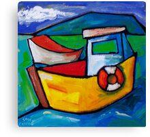 FISHING IN CAPRI - ITALY  Canvas Print