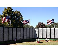 The Vietnam Traveling Memorial Wall Photographic Print