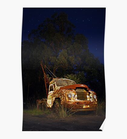 Retired Tow Truck Poster