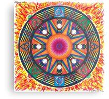 Dharma wheel 2 Metal Print