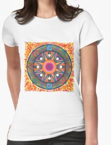 Dharma wheel 2 Womens Fitted T-Shirt