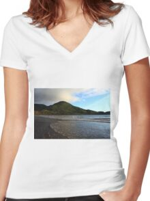 South Coast Of Ireland Women's Fitted V-Neck T-Shirt