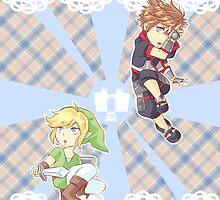 Link and Sora by SpigaRose