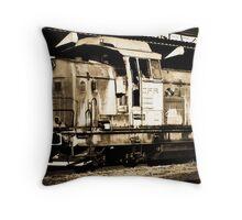 Diesel Engine Locomotive Throw Pillow
