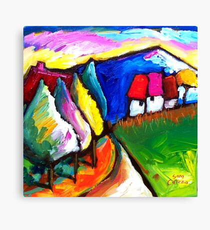 HOUSES  IN  UMBRIA - ITALY   Canvas Print