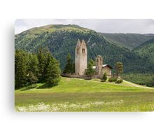 San Gian Church with its ruined bell tower Canvas Print