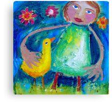 JESSIE AND THE LOVEBIRD  Canvas Print