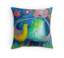JESSIE AND THE LOVEBIRD  Throw Pillow
