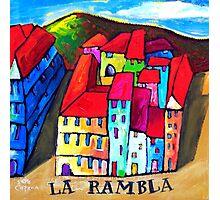 LA  RAMBLA - BARCELONA , SPAIN  Photographic Print