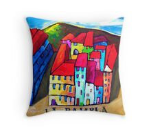 LA  RAMBLA - BARCELONA , SPAIN  Throw Pillow