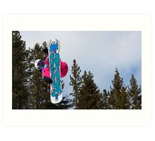 """Mount High - Big Air Snowboarding Competition, Mount High Ski Resort, California"" Art Print"