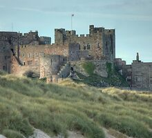 Bamburgh Castle..The Seaward Side by Jamie  Green
