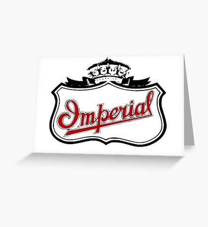 Classic Car Logos: Imperial Automobile Company Greeting Card