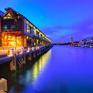 Magic hour at walsh bay by donnnnnny