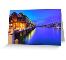 Magic hour at walsh bay Greeting Card