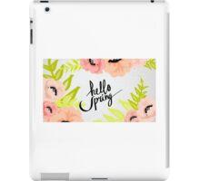 Spring Says Hello iPad Case/Skin