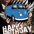 Volkswagen Birthday Card- Split Panel by KombiNation