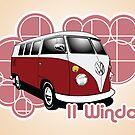 Volkswagen Print- 11 Window Split by KombiNation