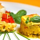 Chicken-Curry-Lasagna With Yellow Pepper Cream III by SmoothBreeze7